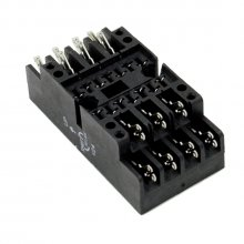 V24 socket - Faston terminal, wall mount