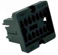 V26 socket - Crimp terminal, panel mount
