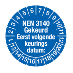 Keurings stickers NEN3140